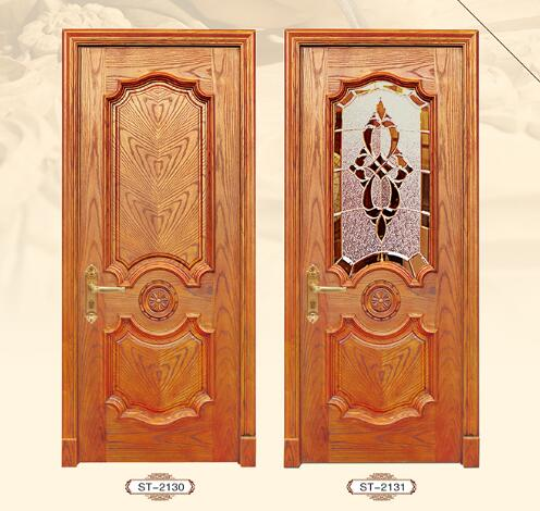 European style solid wood composite mdf door with CE Marked