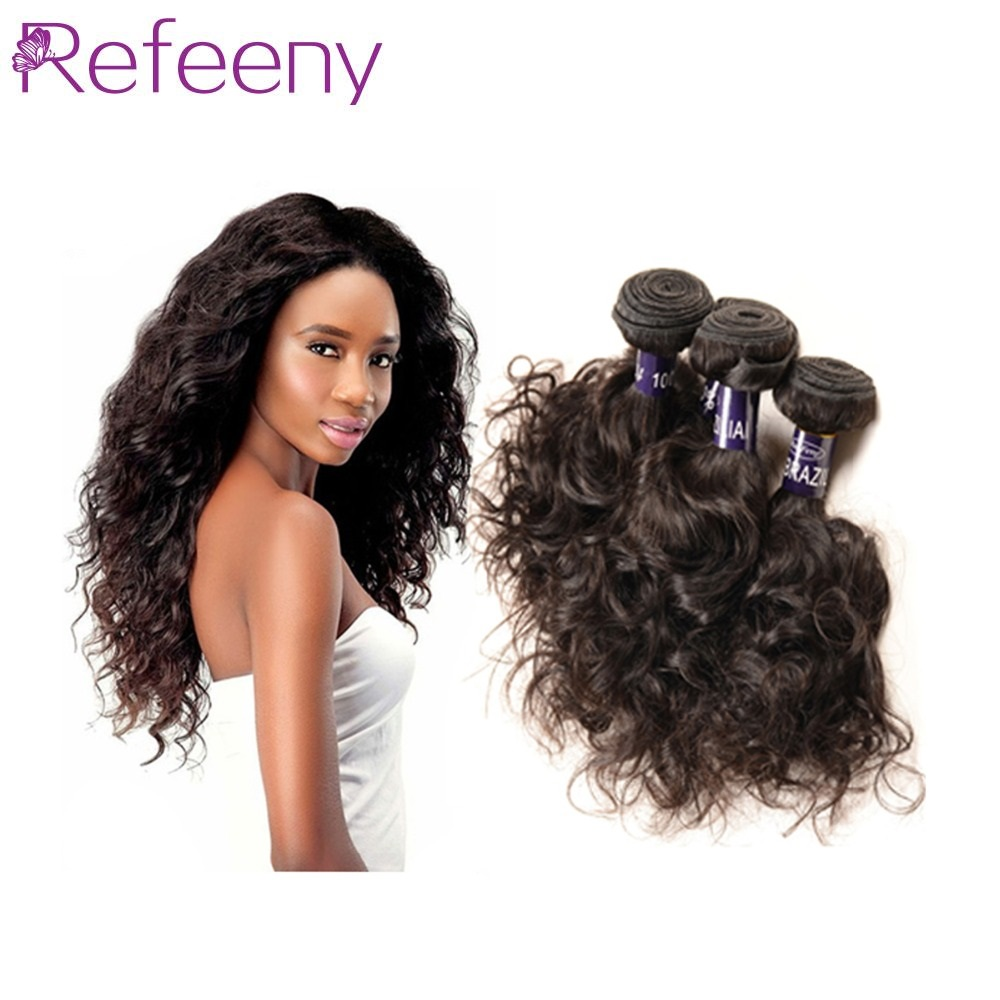 Brazilian Hair Weaving Water Wave 4 Bundles Brazilian Remy Hair Weave Brazilian Virgin Human Hair