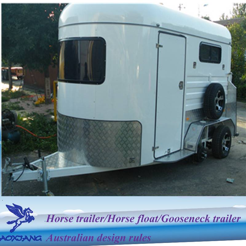 hot sale 2 horse straight load horse trailer float from china