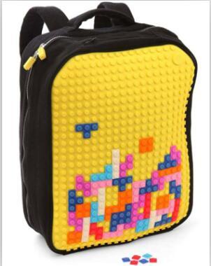 diy Uyani panel pixels kid backpack school bags obag