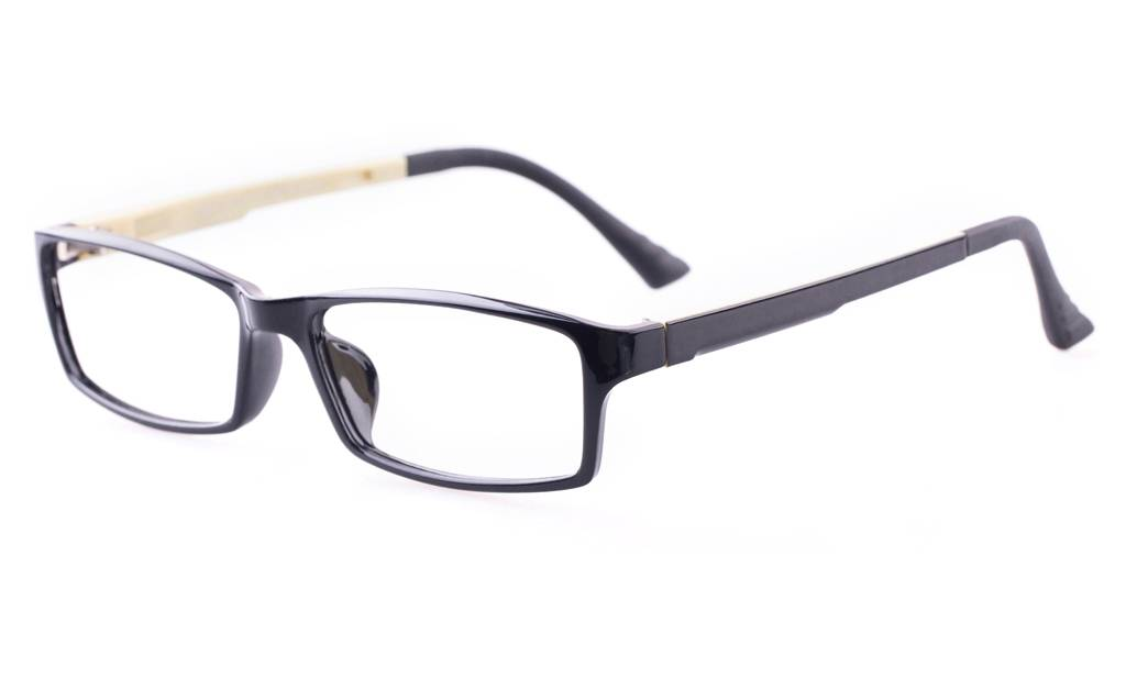 S.Black Creamy 7004 SMOOTH Full Rim Square ULTEM Glasses