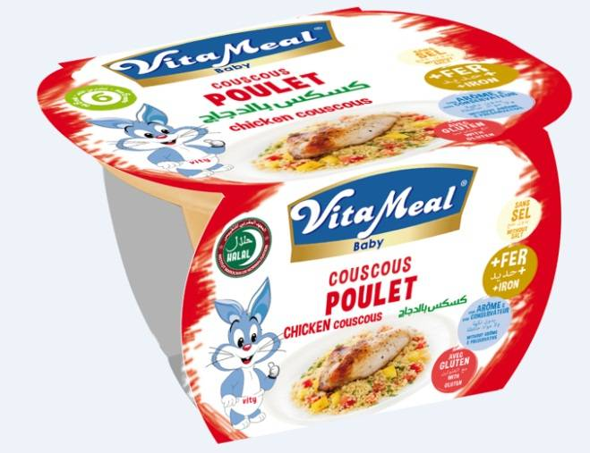 VITAMEAL BABY - Plastic jar - Chicken Couscous