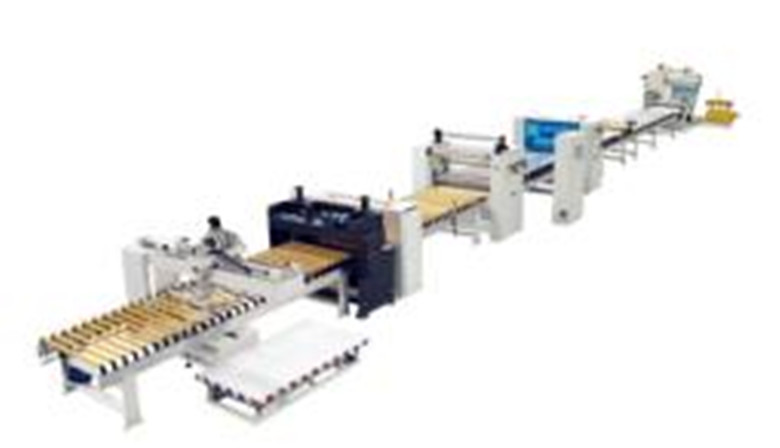 Stainless steel laminating/sticking machine production line using PUR hotmelt glue for making house