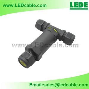 IP68 Waterproof 3-Pole T-Splitter Connector