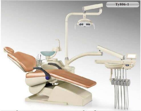 Double Arm Rest Portable Dental Chair With LED Sensor Light Hanging Tray