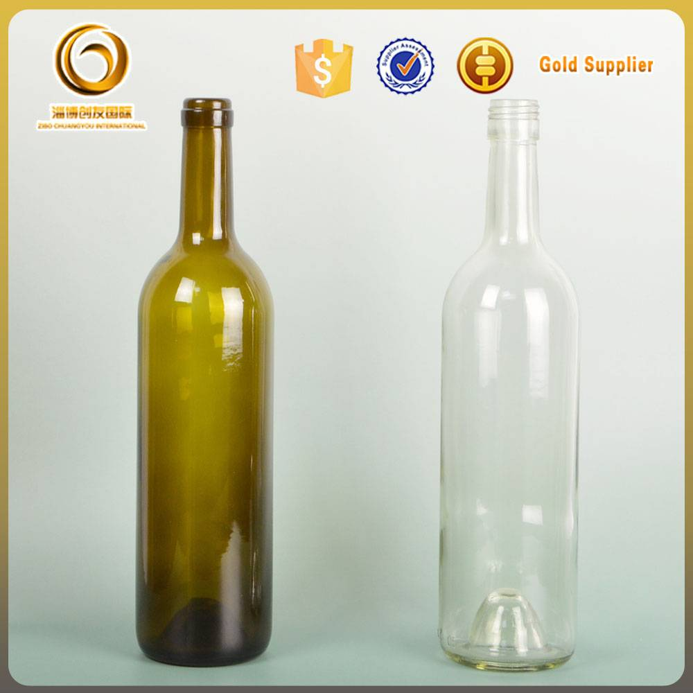 750ml glass bottle green wholesale wine bottles