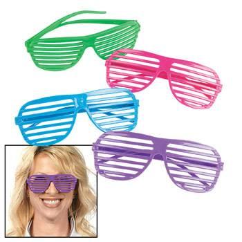 neon shutter shade glasses