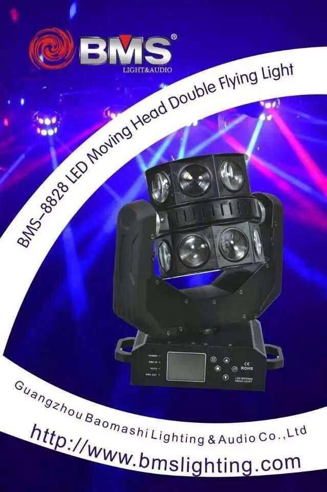 16 PCS CREE RGBW LED Moving Head Double Flying Light