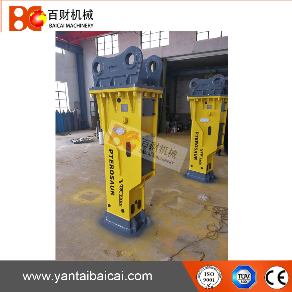 Silent type hydraulic rock breaker hammer with 140mm chisel