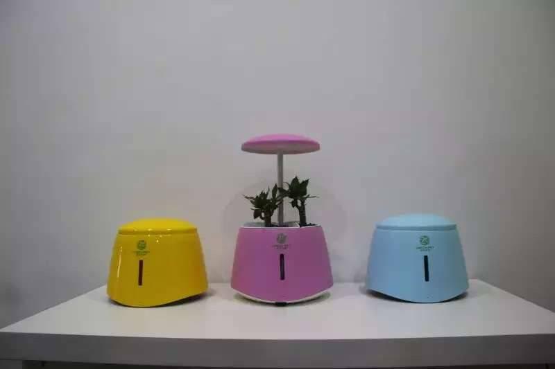 hot sale hydroponic LED Flower Pot green pet