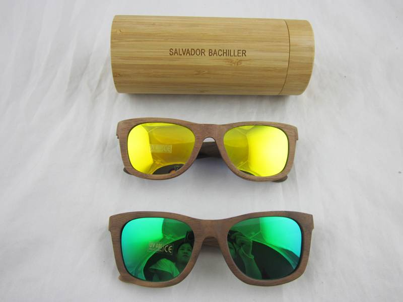 wayfarer wooden sunglasses colorful with polarized lens