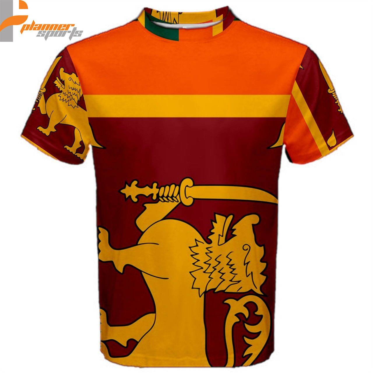 Sri Lanka Sri Lankan Flag Sublimated Sublimation T-Shirt S,M,L,XL,2XL,3XL