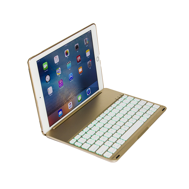 Clamshell type of design wireless bluetooth keyboard for iPad Pro9.7&iPad Air2
