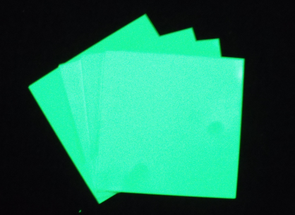 Hard Sheet of photoluminescent Glow in the dark board