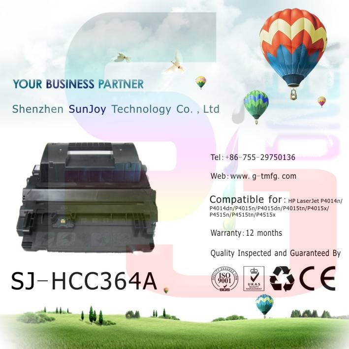 Sunjoy 64A toner cartridge CC364A compatible for  HP LaserJet4014 4015 4515