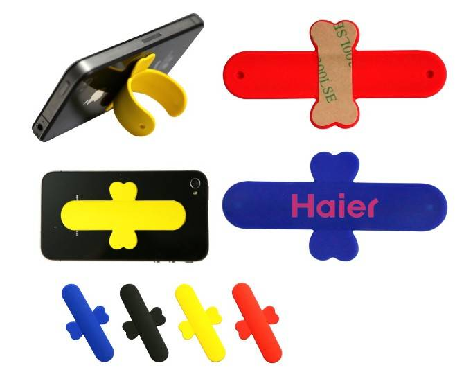 2014 New hot One Touch U silicone mobile phone stand/One touch wing design silicone phone stand/sili