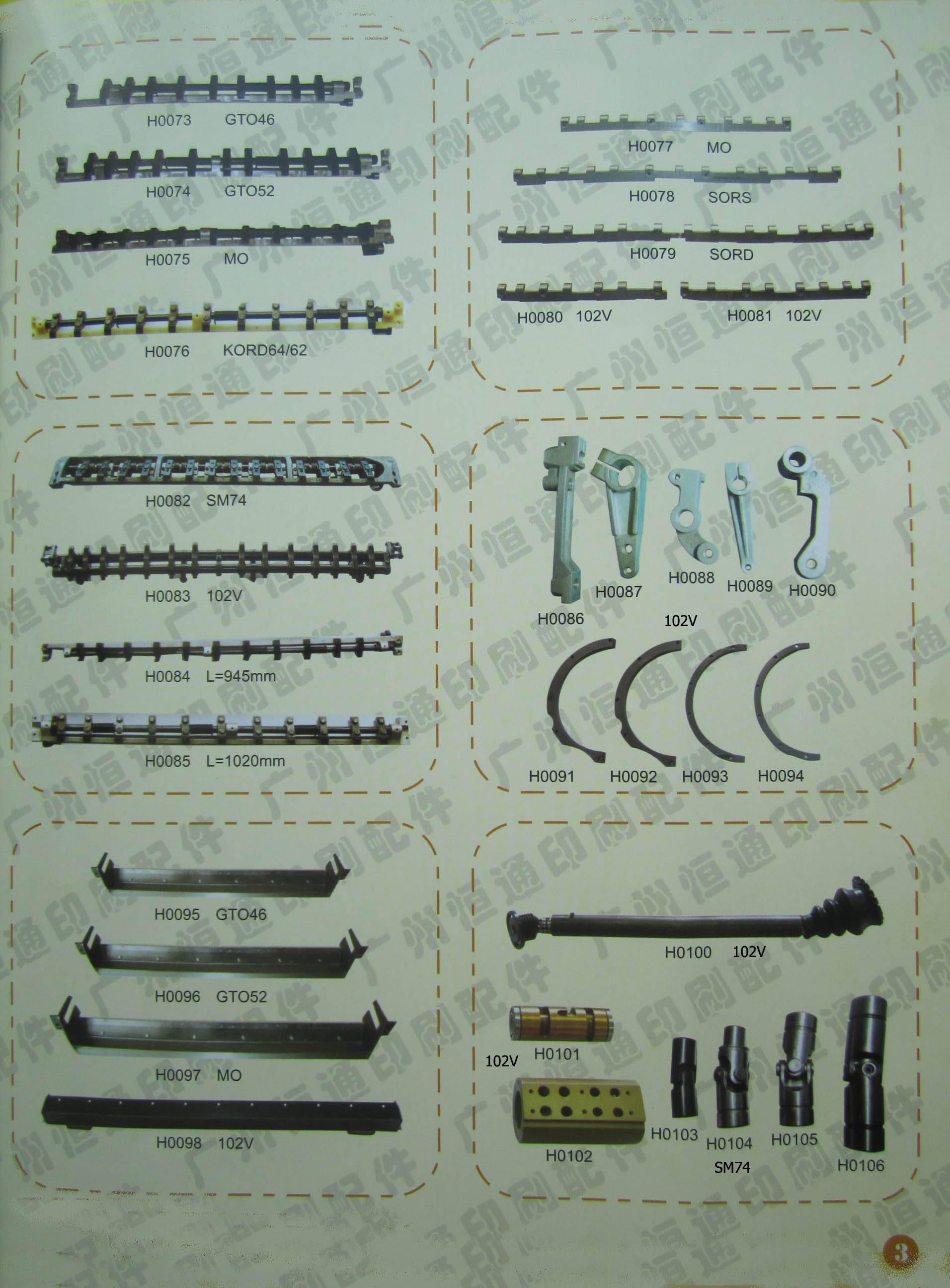For heidelberg offset printing machine spare parts