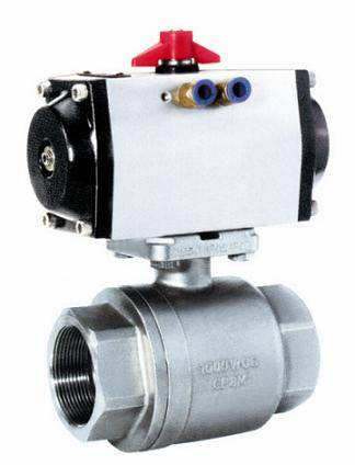 2PC Pneumatic Ball Valve
