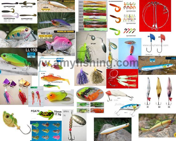 fishing lure,artifical lures, hard lure, soft lure, fishing baits, frog, spinner, spoon, spinnerbait