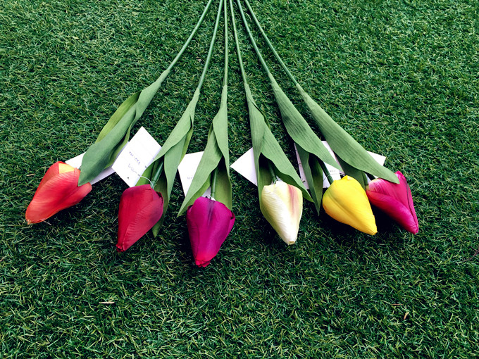 Tulip Flowers Artificial Flowers Wedding Party Decor Silk Flowers Home Decoration Party Supplier