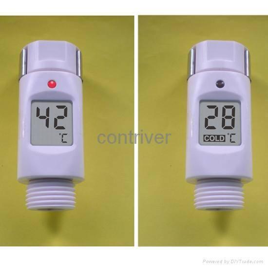 waterproof Digital Shower head thermometer