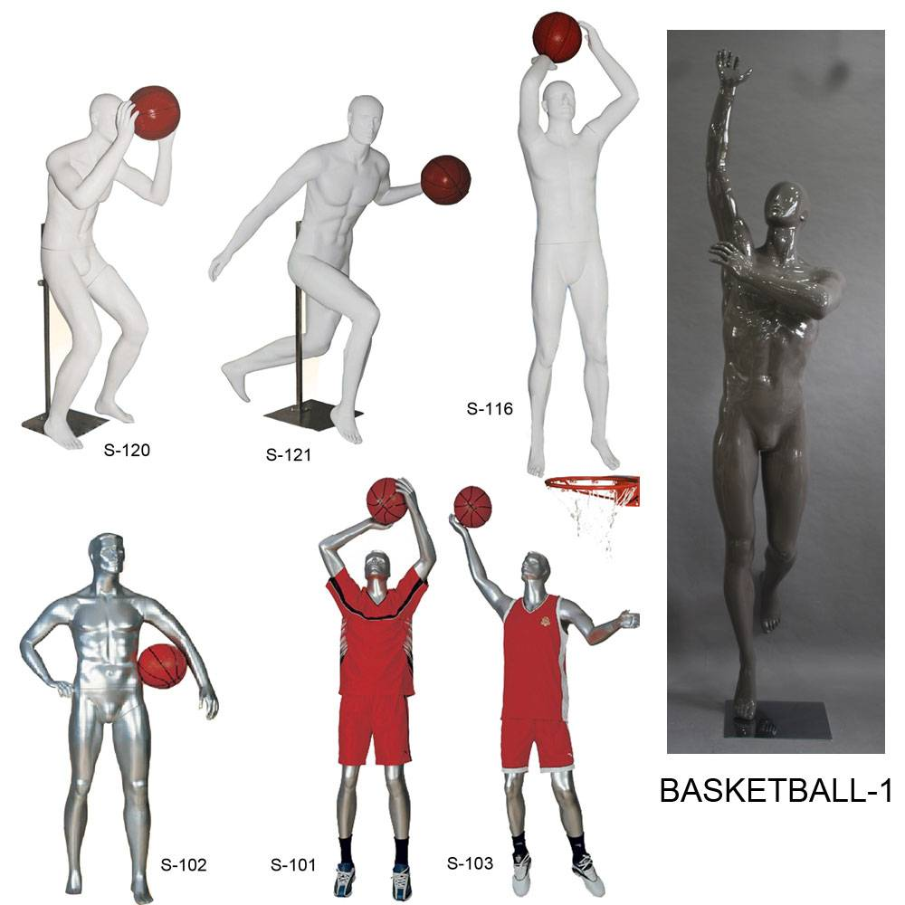 basketball player mannequins