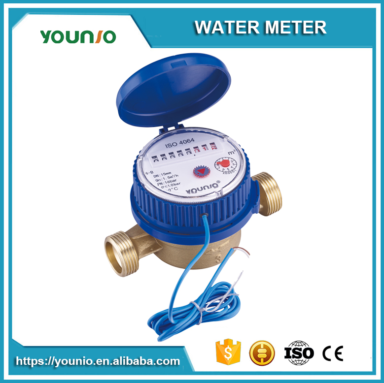 Younio Lowest Price Single Jet Water Meter,Dry Type Pulse Output With Reed Switch Water Meter