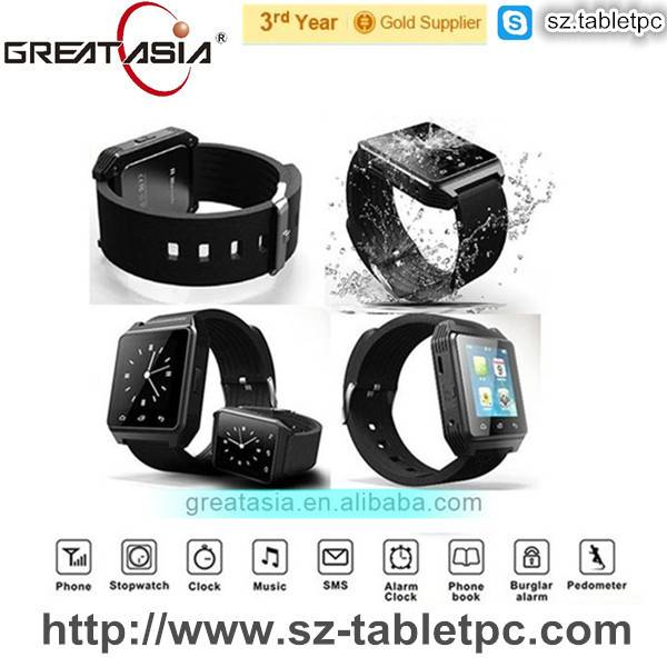 Smart Watch with phone function,music player,FM,motion records