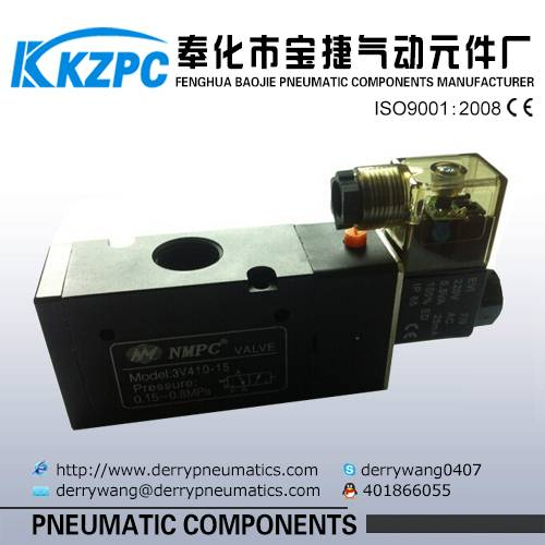 3V310-10 three way two position solenoid valve normally closed valve DC24V
