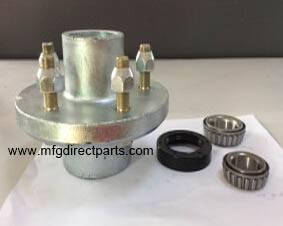 galvanized boat trailer hub assembly
