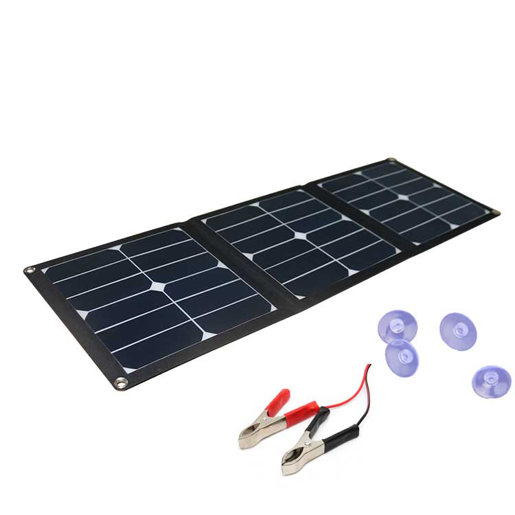 Hovall 42 Watt Folding Solar Charger with Dual Outputs