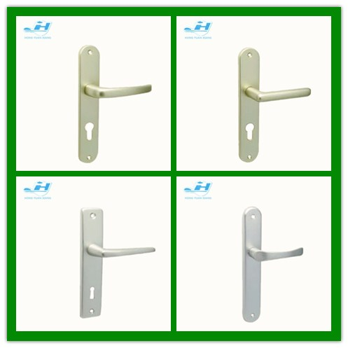 Aluminum Handle Oxidation finishing Mortise door lever handle hot sales in cheap price