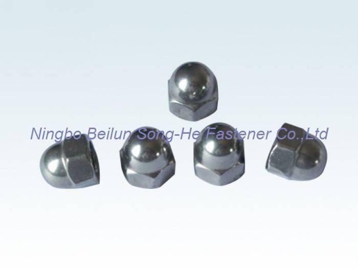 Hexagon domed cap nuts,DIN1587
