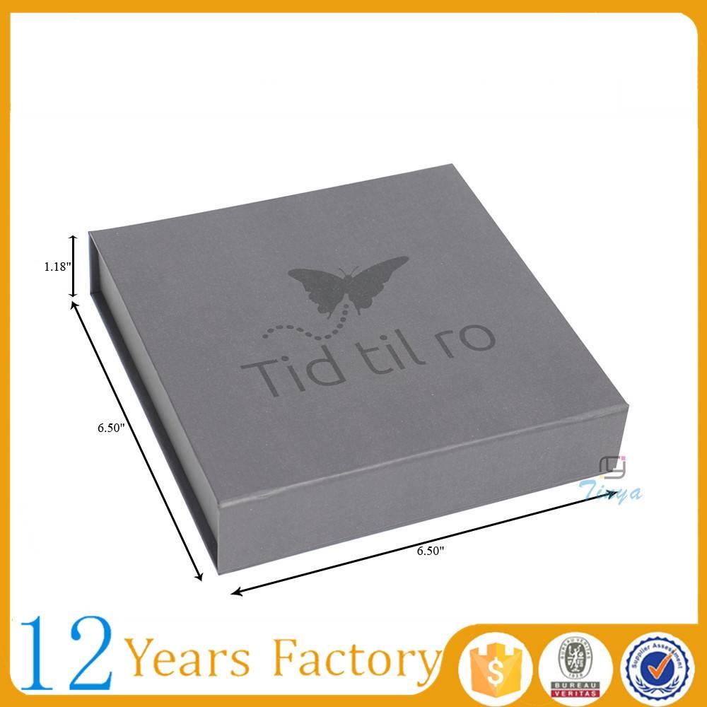rigid gift paper custom magnetic box