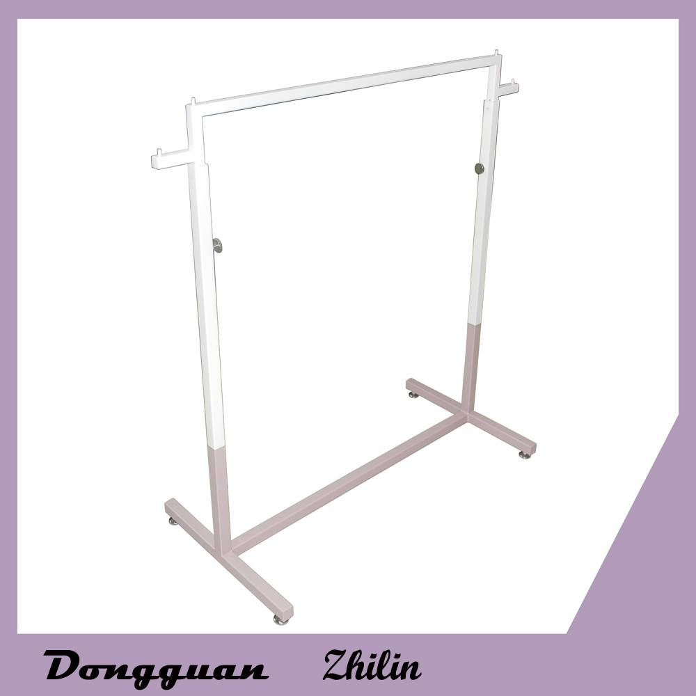 Hot sale adjustable metal clothing display shelf new design garment display rack
