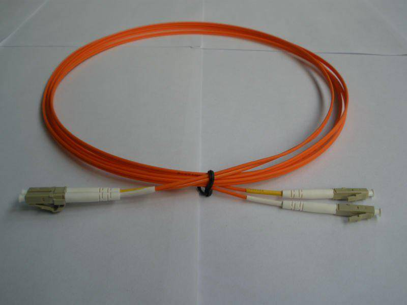 LC UPC 62.5 /125 Multomode Duplex Fiber Patch Cable with 2.0mm PVC Jacket cheap price per meter
