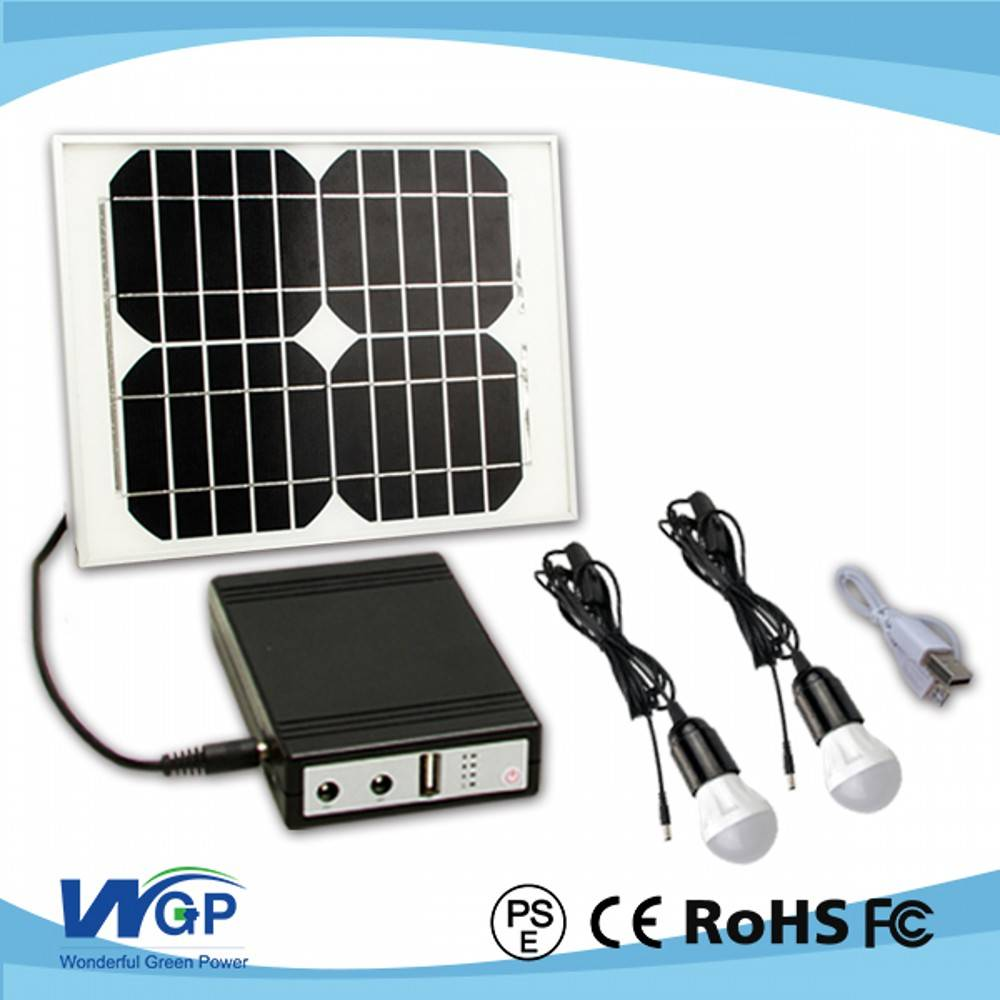 Newest Arrival 10W popular home solar power systems for home and camping