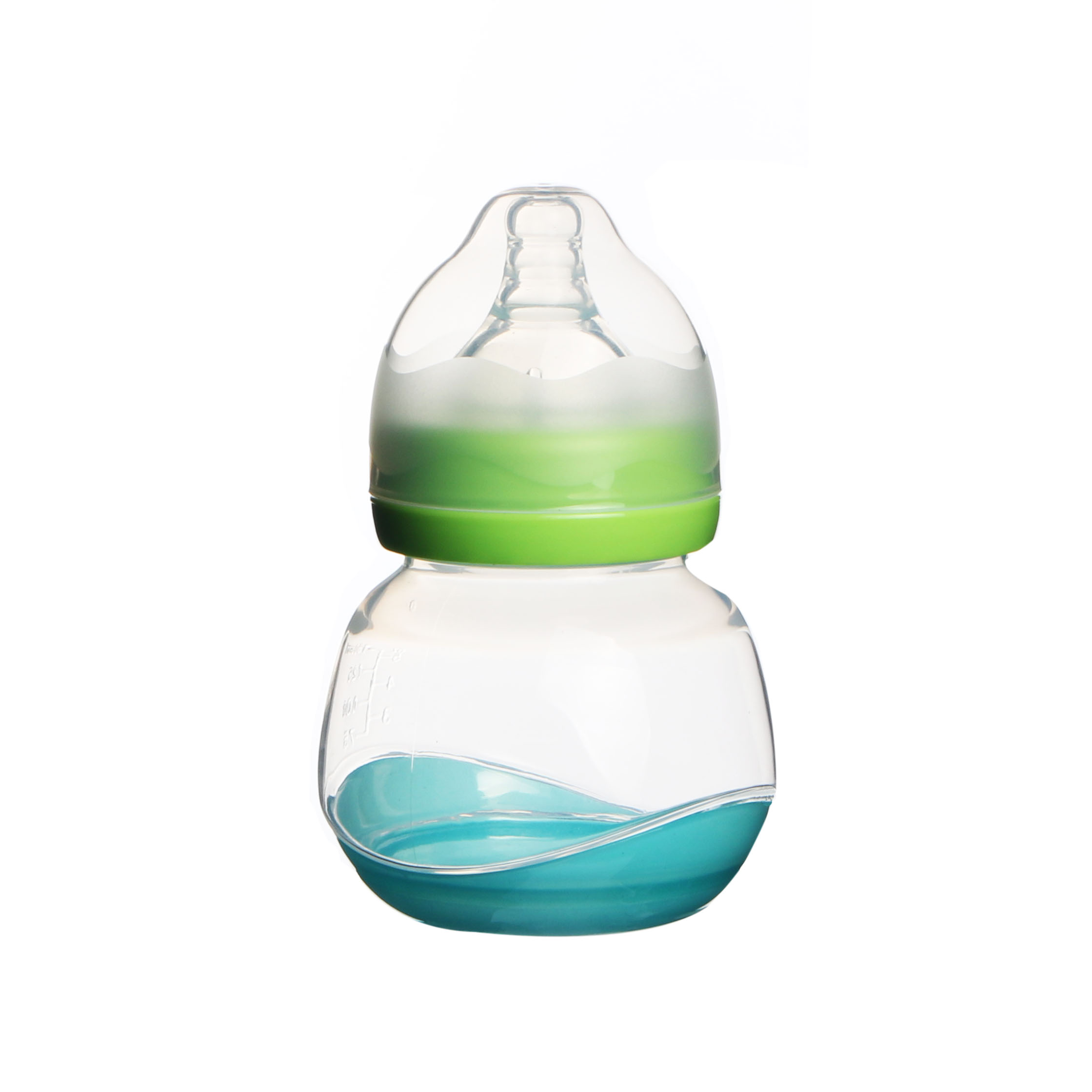 2017 best hot selling green 330ml colourful baby bottles for newborns
