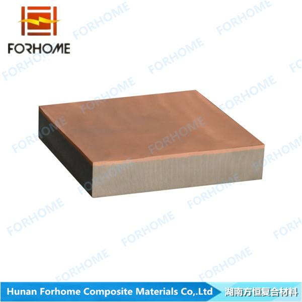 Red Copper-Steel Clad Wear Plate