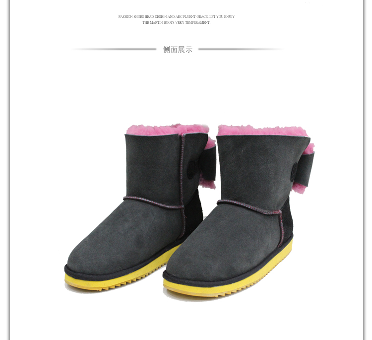 high end flat real sheep fur winter warm shoe ladies genuine leather boots