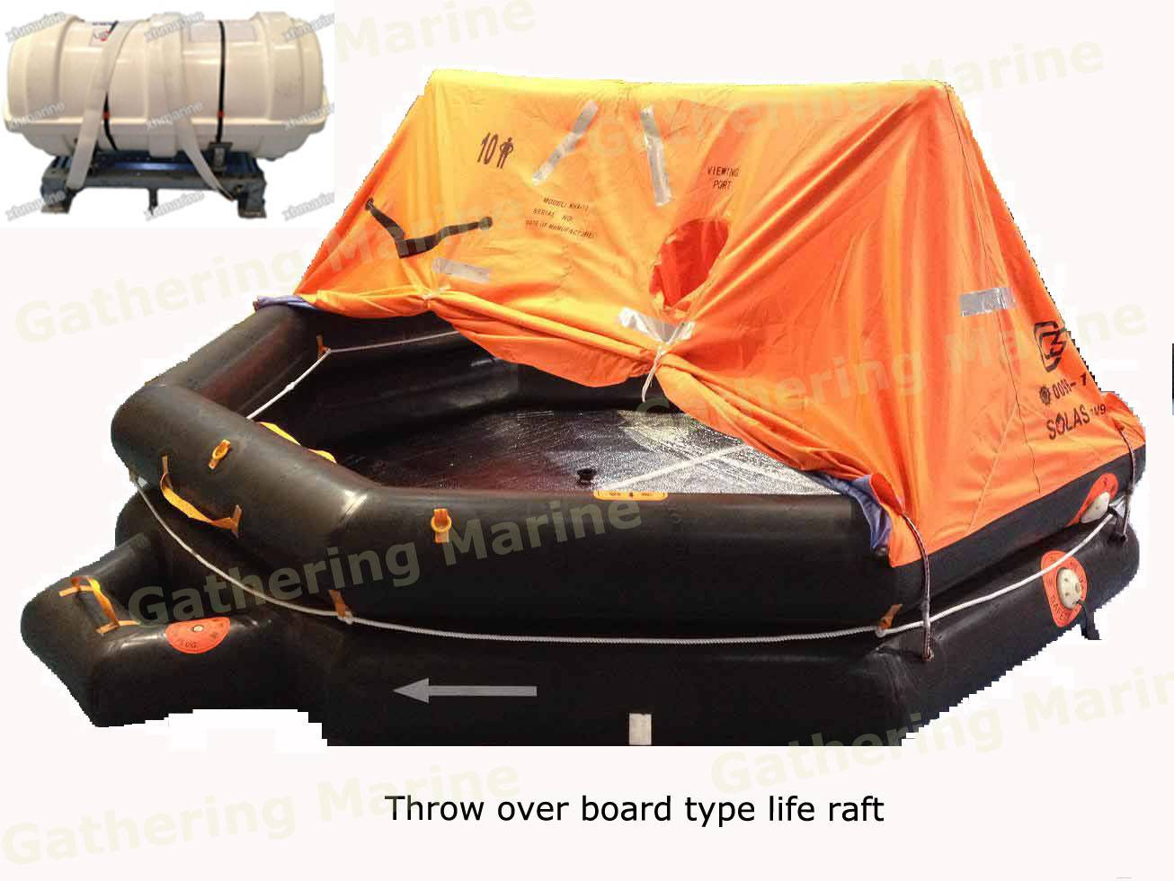 Marine lifesaving Solas approved life raft for sale
