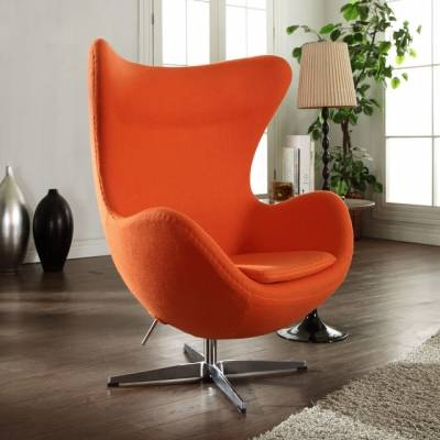 MLF  orange  wool Arne Jacobsen Egg Chair