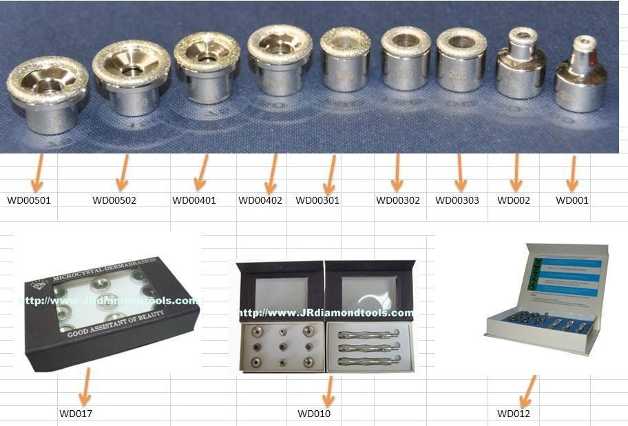 Diamond dermabrasion tip for microdermabrasion machine