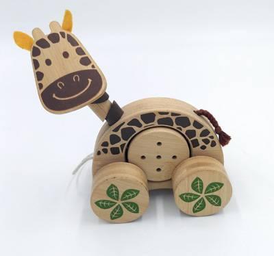 Pull-along jingle roller-giraffe