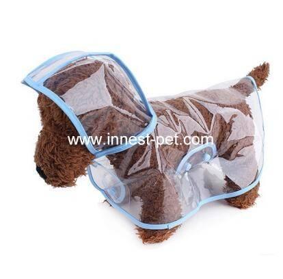 PVC pet dog raincoat