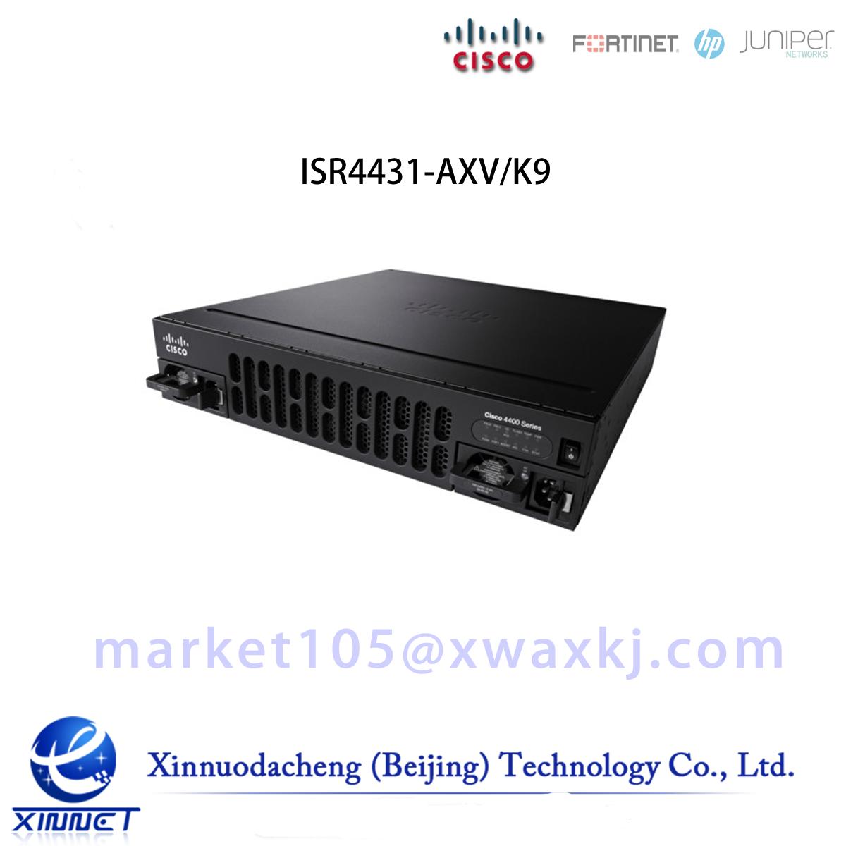 Cisco ISR 4431 AXV Bundle,PVDM4-64 w/APP,SEC,UC lic,CUBE-25 ISR4431-AXV/K9