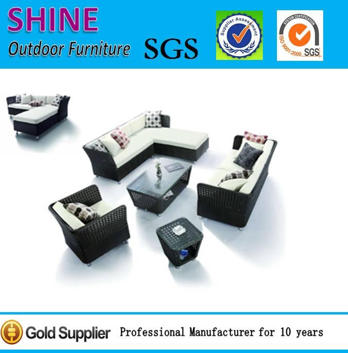 Patio furniture 2015 new Aluminium outdoor rattan sofa set CT2014410