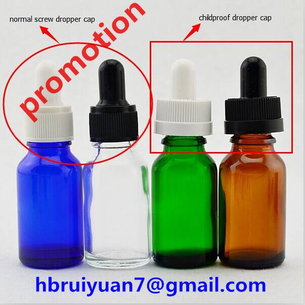 10ml 15ml 20ml 30ml amber/ black /clear/frosted glass bottle , glass essential oil bottle