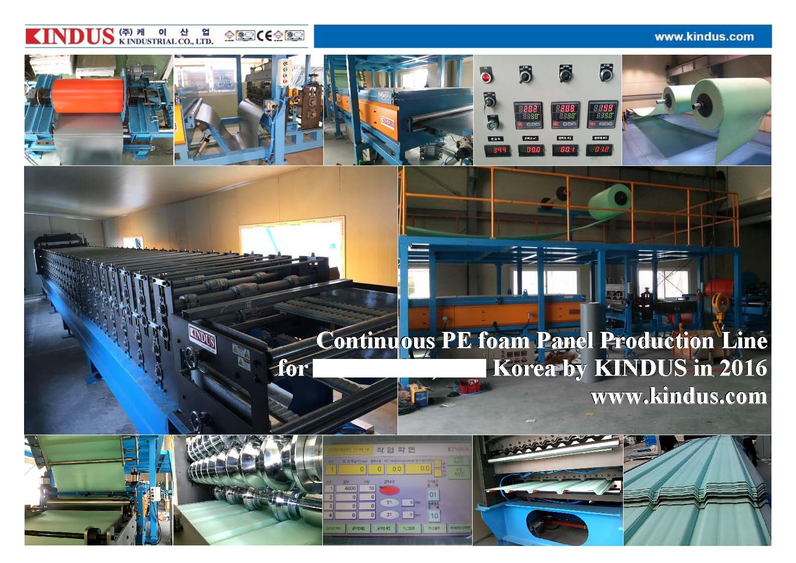 Continuous PE foam Panel Production Line
