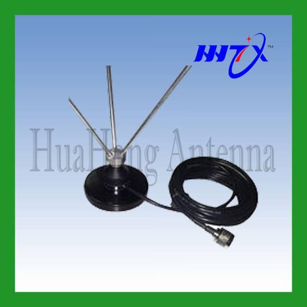 Wideband VHF NMO vehicle whip antenna 130-180M